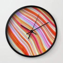 Wild Wavy Lines 23 Wall Clock