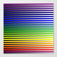 Rainbow with Black fade to White Canvas Print