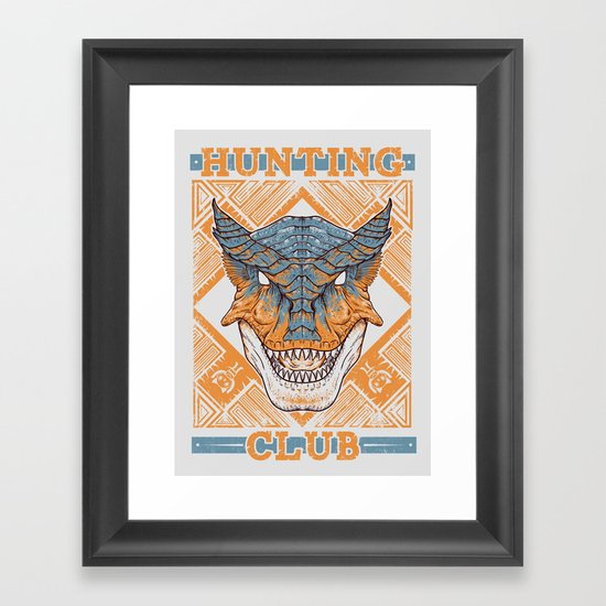 Hunting Club: Tigrex Framed Art Print