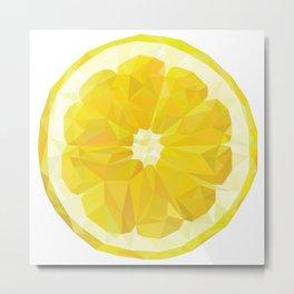 Lemon Slice Metal Print
