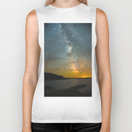 Milky Way Galaxy in Manitoba Biker Tank