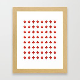 flag of canada 2,america,canadian,ottawa,toronto,Maple Leaf,l'Unifolié,montreal,erable,snow Framed Art Print