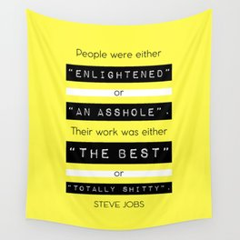 STEVE JOBS QUOTE Wall Tapestry