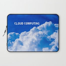 White clouds in the blue sky Laptop Sleeve