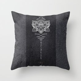 rose mandala luxury mug Throw Pillow