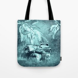 cars and butterflies in moonlight Tote Bag