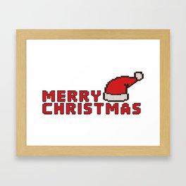 Merry Christmas knitted design Framed Art Print