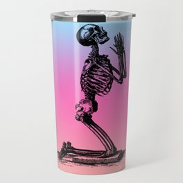 Classic Retro Design Praying Skeleton Travel Mug