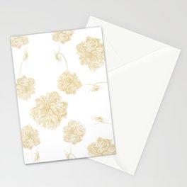 Golden Lotus offset Stationery Cards