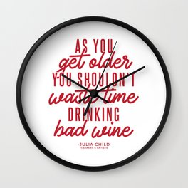 As You Get Older (Red) Wall Clock