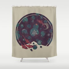 Amongst the Lilypads Shower Curtain