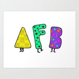a few boys™ 90s throwback (color) Art Print