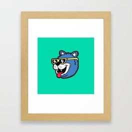 Cool Bear (portrait) Framed Art Print