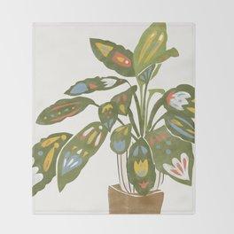 Scandinavian Plant Throw Blanket