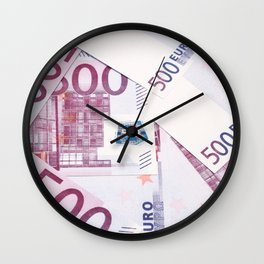 500 Euros bills Wall Clock