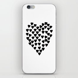 Hearts Heart Black and White iPhone Skin
