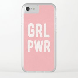 GRL PWR (pink) Clear iPhone Case