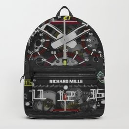 Richard Mille RM011 Felipe Massa Carbon Black Automatic Flyback Chronograph 49MM Watch Backpack