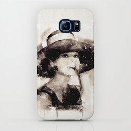 Audrey Hepburn watercolor iPhone Case