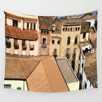 spain Wall Tapestries featuring Spain Landscape by Liza Q.
