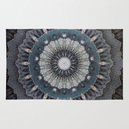 Gray metal Mandala Rug