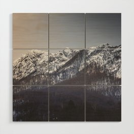 Snowy Mountain Range Wood Wall Art
