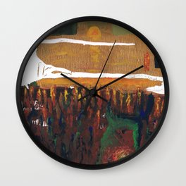 Low Spheres and Sun set Wall Clock