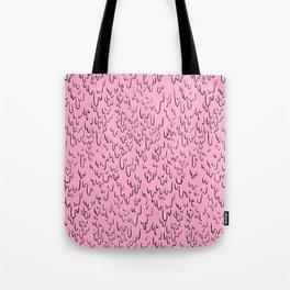 Melting Pink Slime Paint Tote Bag