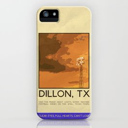 Silver Screen Tourism: DILLON, TX / FRIDAY NIGHT LIGHTS iPhone Case