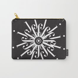 "Snowflakes - The Didot ""j"" Project Carry-All Pouch"