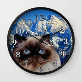 Himalayan Cat Wall Clock