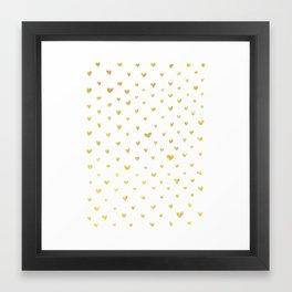 Golden Hearts Framed Art Print