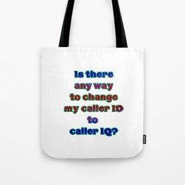 """Funny """"Caller ID"""" Joke Tote Bag"""