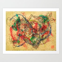 Strings Attached Art Print