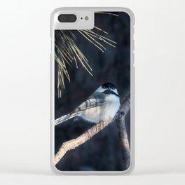 December Chickadee Clear iPhone Case