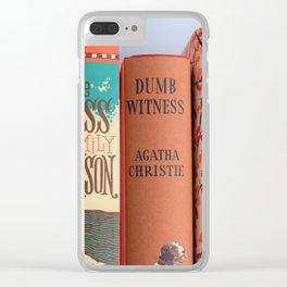 Shelfie in Orange Clear iPhone Case