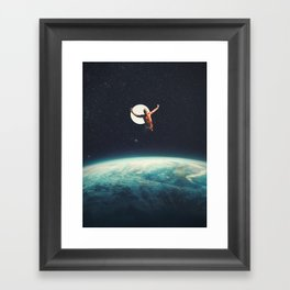 Returning to Earth with a will to Change Framed Art Print