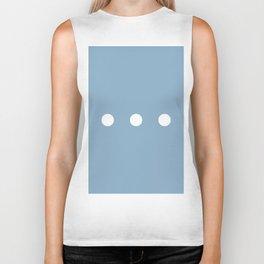 white dots on placid blue color background Biker Tank