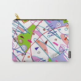 Abstract path shapes Carry-All Pouch