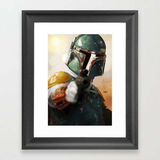 Boba Framed Art Print