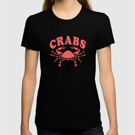 Funny Crabs Vintage Look Team Mascot Red T-shirt