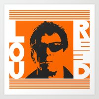 lou reed Art Prints featuring Lou Reed by Silvio Ledbetter