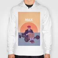 rushmore Hoodies featuring Max by Perry Misloski