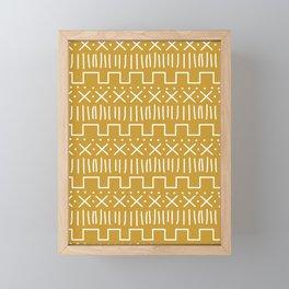 Mustard Mud Cloth Framed Mini Art Print
