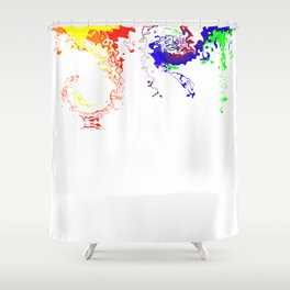 Rainbow Spurt 03 Shower Curtain
