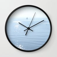 sparkle Wall Clocks featuring Sparkle  by INK Photos