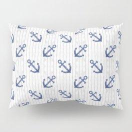 Navy Blue Anchor Pattern Pillow Sham