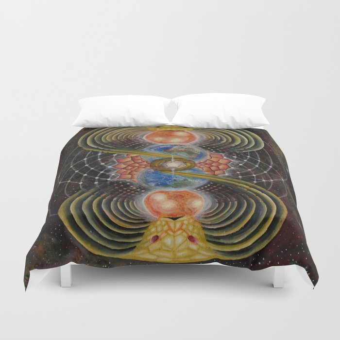 Solar Prayer Duvet Cover