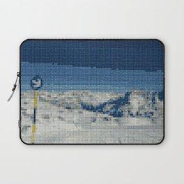 Cross Stitch Skiing Laptop Sleeve
