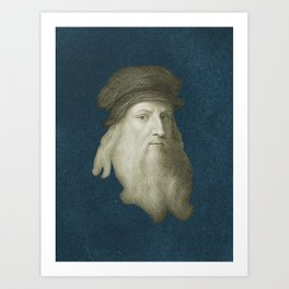 Leonardo da Vinci, c. 1600 Art Print